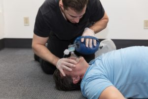 CPR HCP Training methods with bag valve