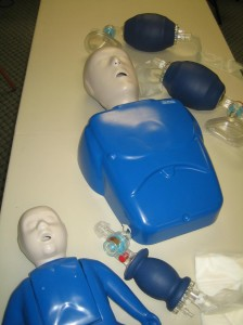 CPR training supplies for CPR HCP Courses