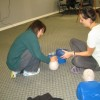 Two person rescue CPR in a first aid and CPR course