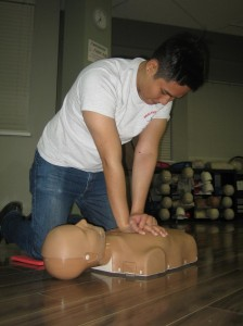 Chest compressions and ventilations